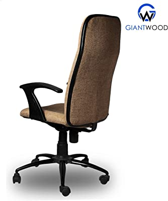 GiantWood Executive Boss Office Chair Old School Classic High Back Director Boss Executive Revolving Office Chair Computer Laptop Study College Office Chairs Chair For High Back Support With Rolling Moving Wheels Revolving Spine Lumbar And Ortho Backrest Support