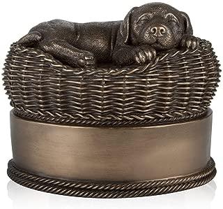 Perfect Memorials Dog in Basket Urns