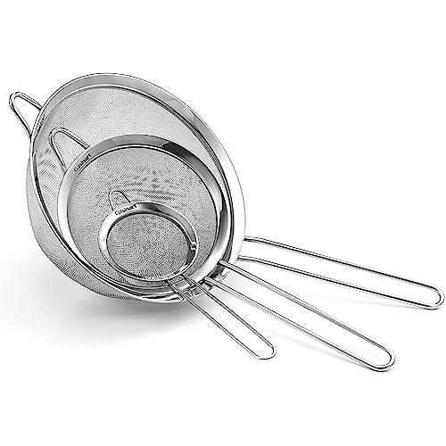 Cuisinart Kitcheniismo Set of 3 Fine Mesh Stainless Steel Strainers
