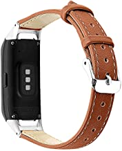 DreamDirect Leather Watch Band, Style Vintage Leather Watch Strap, 6 Colors for Quick Release Leather Watch Band for Samsung Galaxy fit-e R370