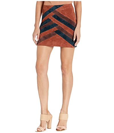 Blank NYC Color Block Suede Mini Skirt (Walk The Line) Women