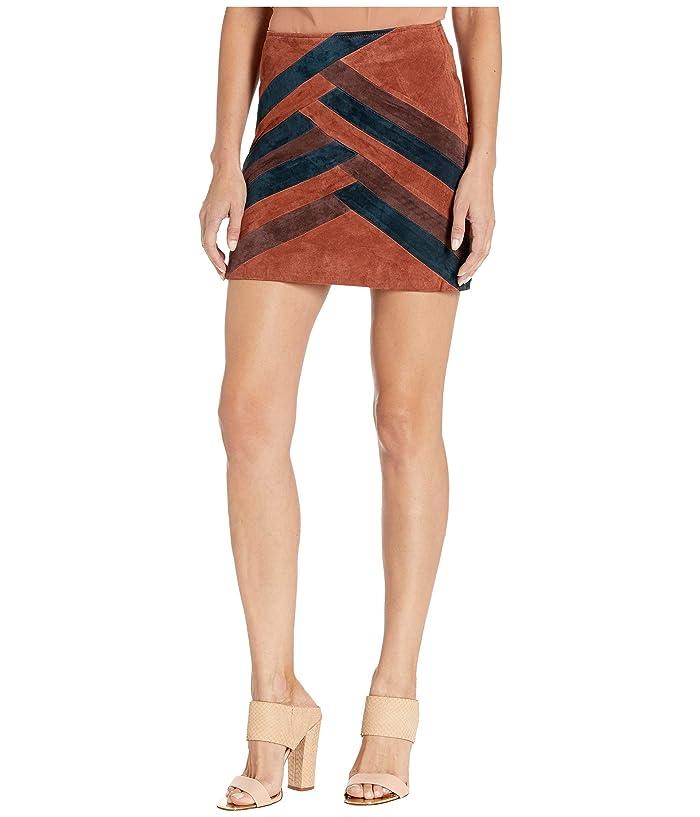 60s Skirts | 70s Hippie Skirts, Jumper Dresses Blank NYC Color Block Suede Mini Skirt Walk The Line Womens Skirt $88.20 AT vintagedancer.com