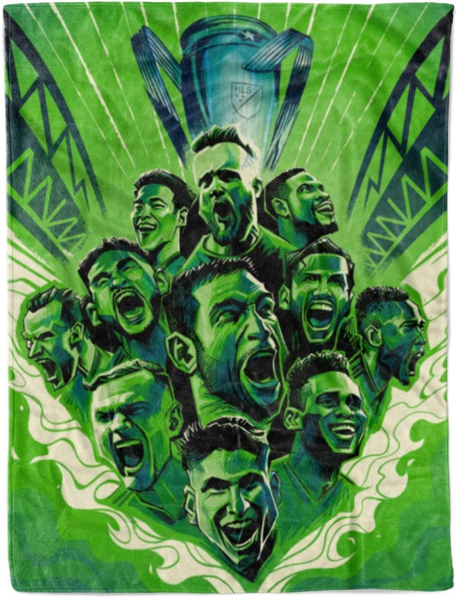 Seattle Recommended Sounders MLS Champions Save money FC Fleece Blankets Throw