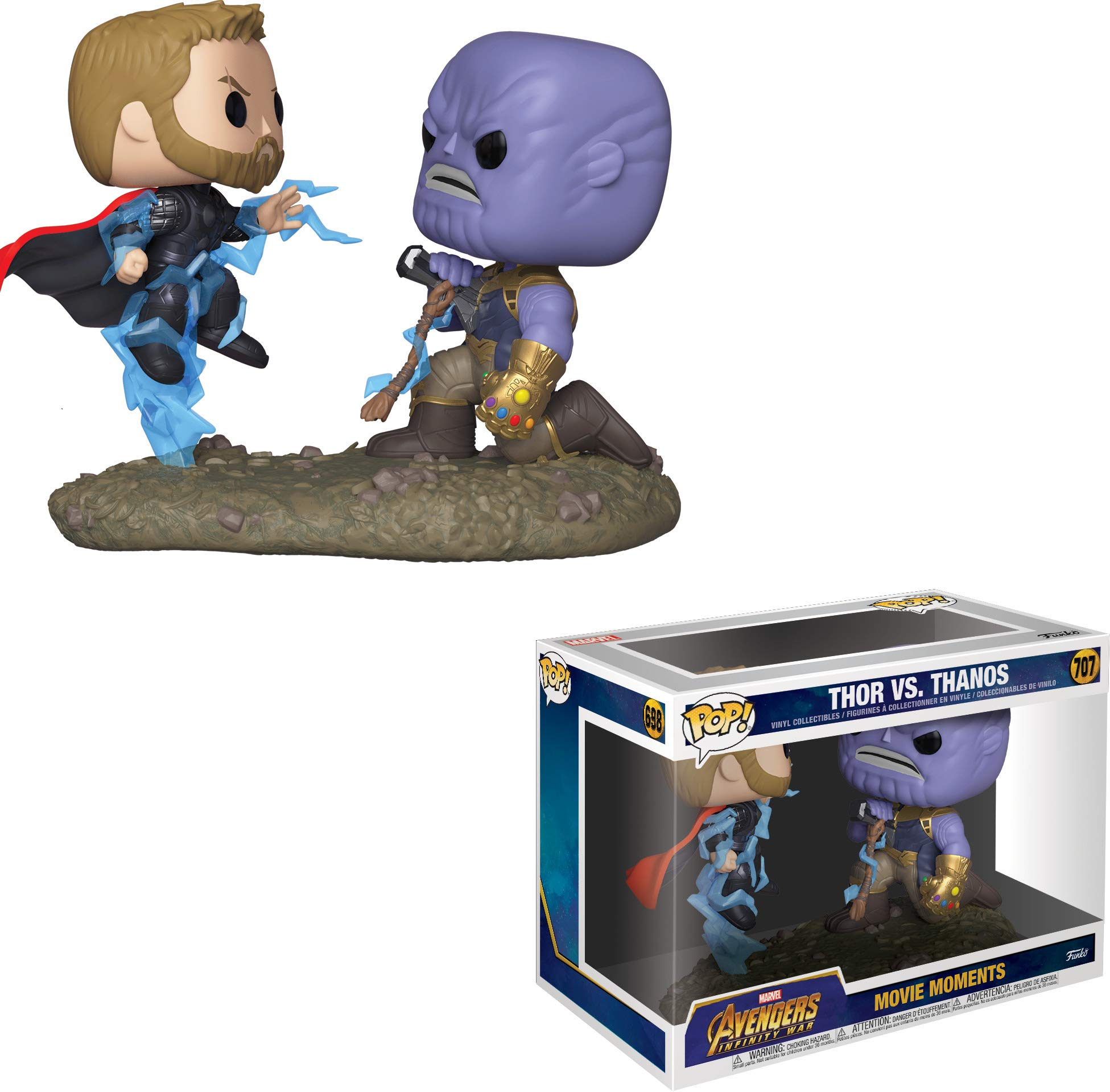 Funko- Pop Bobble 2-Pack: Marvel: Movie Moments: Thor vs Thanos Figura Coleccionable, Multicolor, Talla única (35799): Amazon.es: Juguetes y juegos