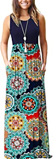 Best floral pocket sleeveless maxi dress Reviews