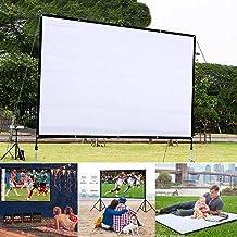 HD Projector Screen,Portable Folding Anti-Crease Indoor...