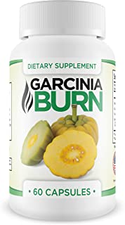 Garcinia Burn- Dietary Supplement Weight Loss Supplement and Appetite Suppressant, Metabolism Booster, Carb Blocker & Belly Fat Burner for Men and Women. 100% All Natural & Non-GMO. Made in The USA