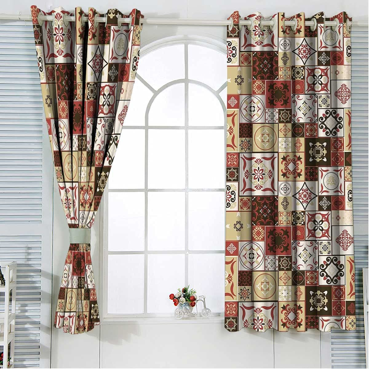 Moroccan Window Curtains Overseas parallel import regular item for Bedroom Length Dar 63 Cream Inches Max 54% OFF