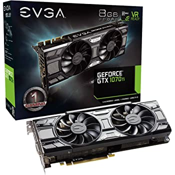 EVGA GeForce 08G-P4-5671-KR, GTX 1070 Ti SC GAMING ACX 3.0 Black Edition, 8GB GDDR5, EVGA OCX Scanner OC, White LED, DX12OSD Support (PXOC) Graphics Card