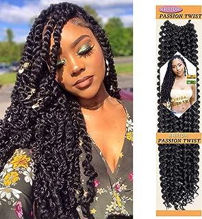 Passion Twist Hair 6 packs 18 inch Water Wave Crochet Braiding Hair Long Bohemian Braids for Passion Twist Crochet Hair OmbreSynthetic Natural Hair Extensions Crochet Braids (1B#)