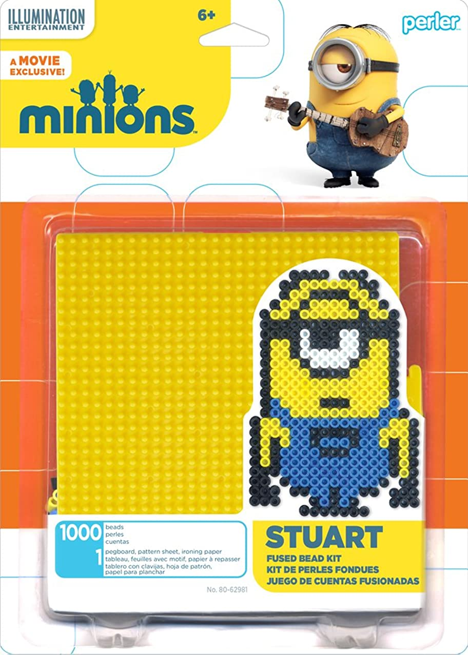 Perler Beads 80-62981 Minions Perler Stuart Activity Kit, Yellow