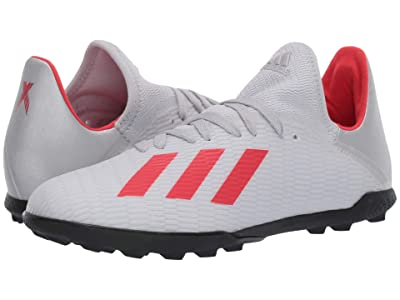 adidas Kids X 19.3 TF Soccer (Little Kid/Big Kid) (Silver/Hi-Res Red/White) Kid