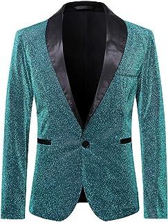 Suits Man Men's Metallic Jacket 1 Button Slim Fit Wedding Party Tuxedo Suits Sakkos Festive Blazer