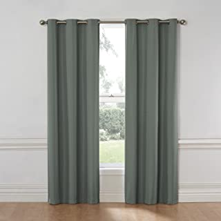 Eclipse Nikki Thermal Insulated Single Panel Grommet Top Darkening Curtains for Living Room, 40