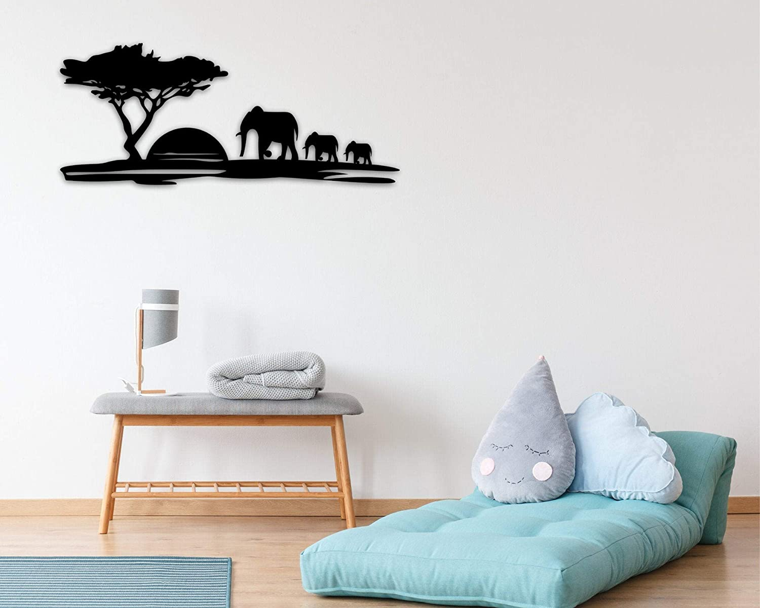 DKISEE Safari Animals Sunset Elephant Africa Wall Challenge the lowest price A Sign Outlet sale feature Metal