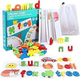 AOLIGE Sight Words Flash Cards Games Kindergarten Montessori Letters Materials for Preschool ABC Match Game Alphabet Puzzl...
