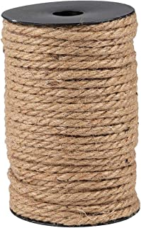 Nautical Rope for Crafting, Jute, (Brown, 100 ft)
