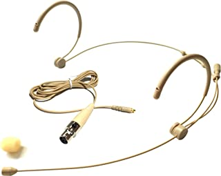 Microdot 4016 Headset Headworn Microphone For SHURE Wireless System - Detachable Cable With Mini XLR Ta4f Connector - Omidirectional Mic