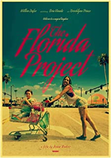 ホームウォールアートデコレーション絵画ポスターアメリカのドラマ映画フロリダプロジェクトハイキャンバス絵画ポスター-60x90cmフレームなし