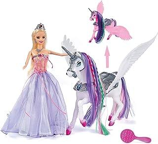 BETTINA Color Changing Unicorn & Princess Doll, Color...