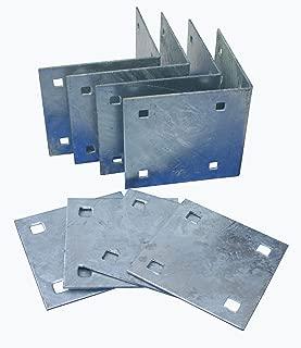 Dock Edge Howell Dock Hardware Stationary Inside Corner Kit with 4 Inside Corners and 4 Backer Plates