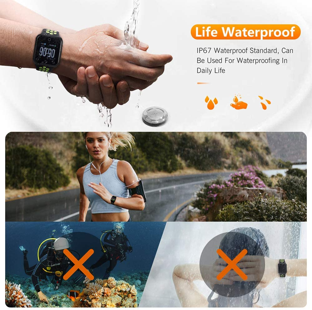 WAFA Fitness Tracker with Heart Rate Blood Pressure Monitor, Waterproof Sports Smart Watch, Bluebooth Smart Bracelet, Sleep Sports Data Monitor Activity Tracking Pedometer Watch for Kids Women and Men