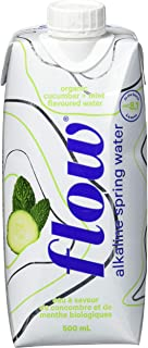 Flow Organic Flavored Water (Cucumber + Mint), 0.5 L