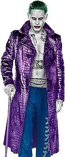 Men's Jared Leto Costume Crocodile Pattern Trench Purple Joker Coat