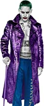 Mountain Leather Men's Joker Jared Leto Costume Crocodile Pattern Trench Coat 2XS to 3XL
