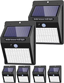 6 Pack Solar Lights Outdoor, 3 Modes/100LED Solar Security Lights Wireless IP65 Waterproof Solar Motion Lights Outdoor Sol...