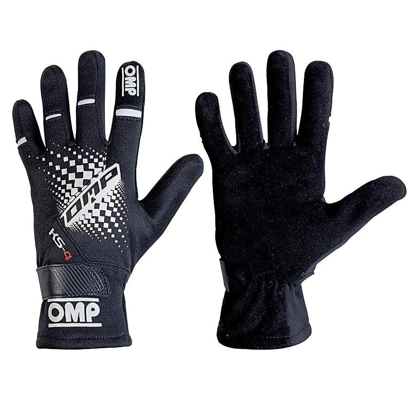上流のワゴン黒板OMP KS-4 GLOVE MY2018 BLACK Sサイズ (ブラック)レーシングカートグローブ