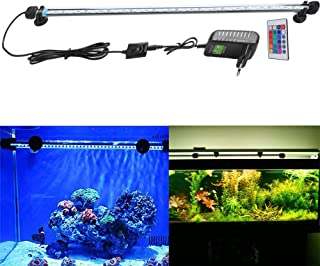 FVTLED Cambia color Lámpara de acuario 8W 62CM 33 luces SMD5050 LED Lampara Tira Pecera Sumergible