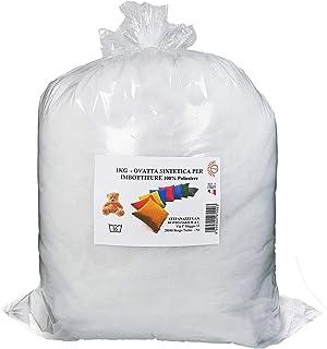 STEFANAZZI Relleno de guata suave de 300 g, guata con lazo, relleno de cojines de peluche, 100% poliéster, decoración de espuma para cojines y pufs de tela, cojín sillón