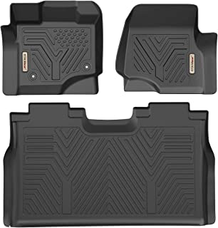 YITAMOTOR Floor Mats for F150, Custom Fit Floor Liners for 2015-2019 Ford F-150 SuperCrew Cab, 1st & 2nd Row All Weather Protection