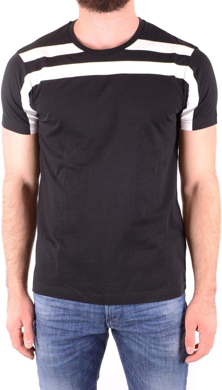 LES men Men's MCBI36828 Black Cotton TShirt
