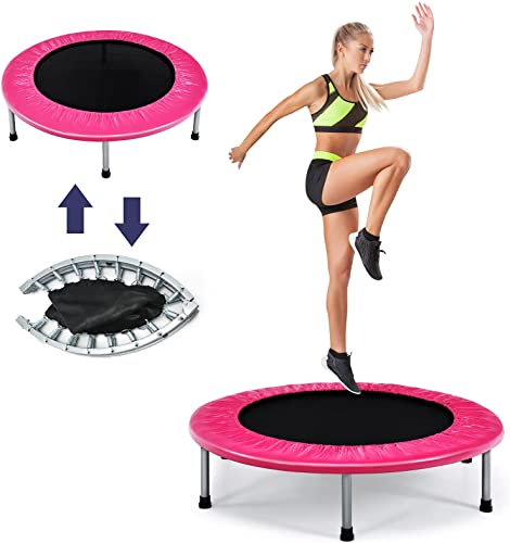 high quality Giantex Folding Mini Trampoline, Portable Recreational online Fitness Trampoline for Adults, Kids, Max Load 330lbs, Foldable Indoor Exercise online Rebounder Trampoline outlet sale