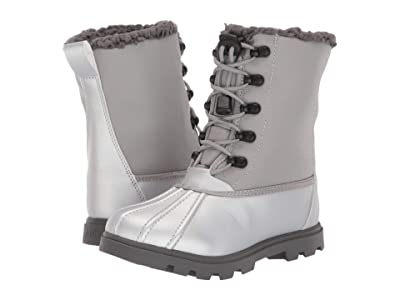 Native Kids Shoes Jimmy 3.0 Treklite (Little Kid) (Silver Metallic/Pigeon Grey/Dublin Grey) Girl