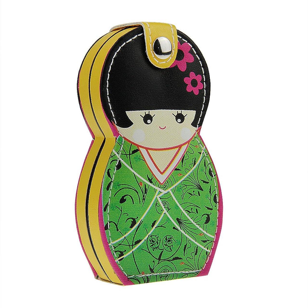 うん部振る舞う爪切り ニッパー 爪切りセット ステンレス製 かわいい 日本人形 着物こけし 足用ニッパー 多機能はさみ ネイルケア 収納ケース付き 握りやすい 飛びにくい ギフト向け 携帯便利 旅行用 家庭用 贈り物 ガールズ レディース 6点セット