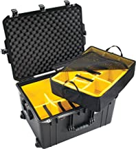 CVPKG Presents - Black Pelican 1637 With yellow dividers. Comes with wheels.