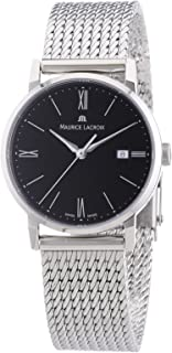 Maurice Lacroix - EL1084-SS002-310 - Reloj analógico de Cuarzo para Mujer con Correa de Acero Inoxidable, Color Plateado