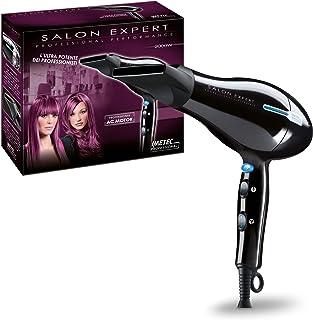 Imetec Salon Expert P2 2000 Secador de pelo profesional, 2000W, 8 combinaciones de aire y temperatura, golpe de aire frío, boquilla estrecha, negro