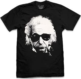 Albert Einstein Cool Shades Face Hip Retro, Black T-Shirt