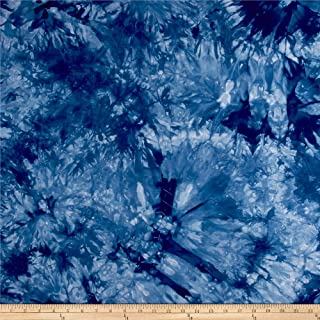 TELIO Bamboo Rayon Tie Dye Jersey Knit Fabric by The Yard, Light Blue