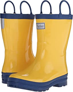 Hatley Kids Yellow & Navy Rainboots (Toddler/Little Kid)
