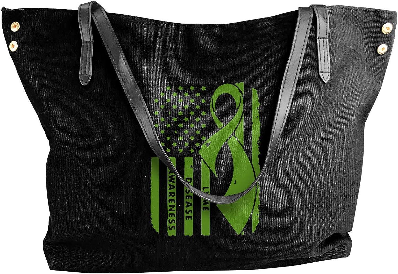 Lyme Disease Awareness Women'S Recreation Canvas Sling Bag For Work Shoulder Tote