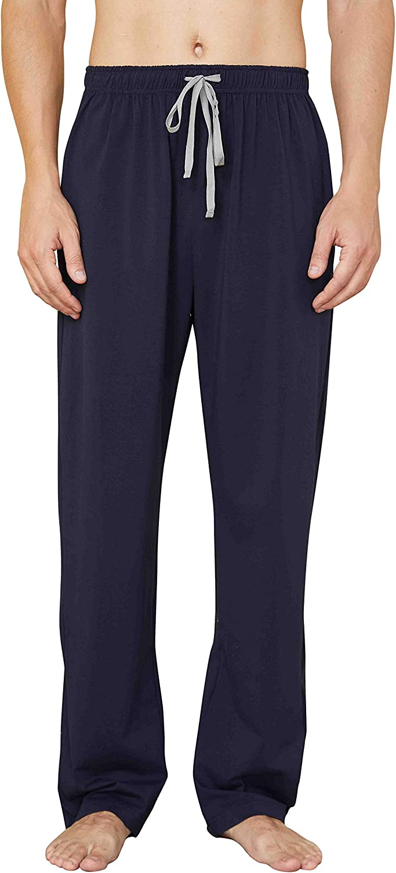 WORW Mens Pajama Pants, Soft Cotton Sleep Lounge Pants