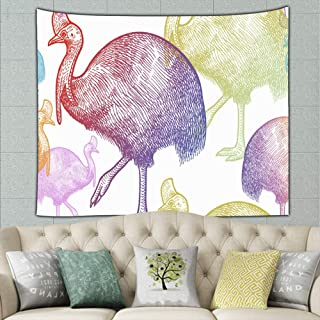 pendan2 cassowary Bird Animals Australia Animals Wildlife cassowary Animals Wildlife Tapestry Bohemian Tapestry Hippie Tapestry Bedroom Living Room Dorm Art Wall Hanging 50