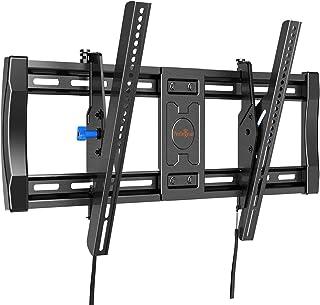 Perlegear テレビ壁かけ金具 超大型 40~82型対応 耐荷重60㎏ VESA規格600*400㎜ ティルト調節可能 リリースロック 日本語取扱説明書付き