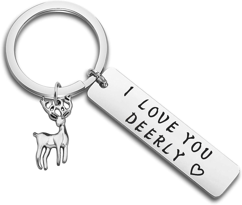 MYOSPARK I favorite Love You Wholesale Deerly Keycha Keychain Deer Antlers