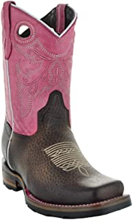 Sponsored Ad - Soto Boot's K3005 Girls Two-Toned Broad Square Toe Boots